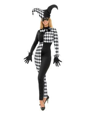 Womens Diamond Jester Costume