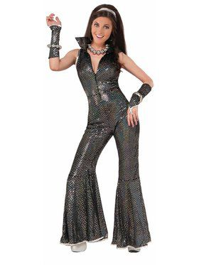 Womens Disco Jumpsuit Costume