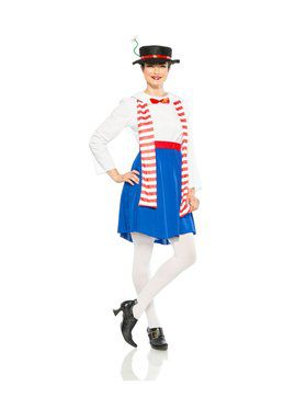 Womens English Nanny Costume
