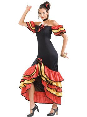 Flamenco Dancer Costume For Adults