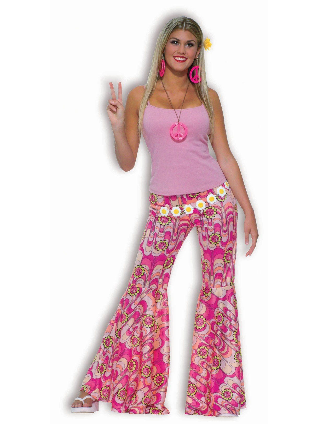 Womens Flower Child Bell Bottoms  sc 1 st  Wholesale Halloween Costumes & Flower Child Bell Bottoms - Wholesale 60s Womens Costumes
