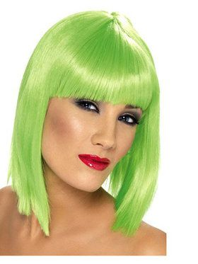 Women's Glam Short Wig - Green