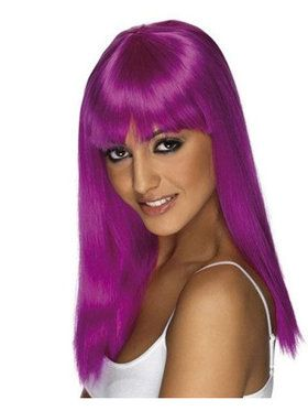 Women's Glamarama Wig - Neon Purple