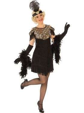 Gold Flapper Costume for Women