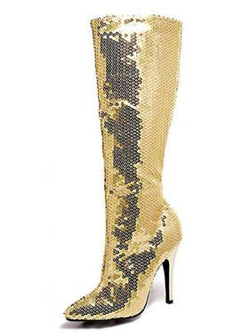 Women's Gold Sequin Knee High Boot