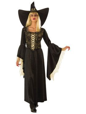 Golden Web Womens Witch Costume