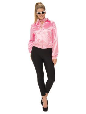 Womens Grease Pink Ladies Jacket