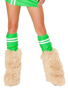 Women's Green Sporty Legwarmers
