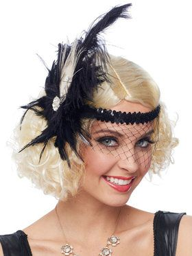 Women's Headpiece Flapper Deluxe