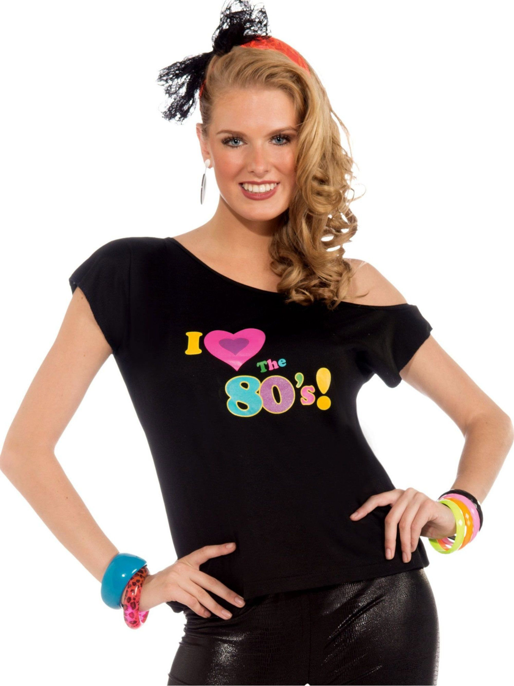 957499ea4bc ... 80's Shirt Adult Costume. View Larger Image · Larger View of Product ...