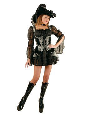 Women's Lacy Pirate Dress Costume