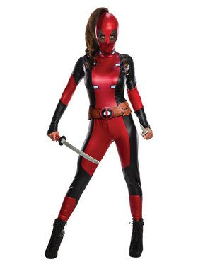 Womens Lady Deadpool Costume