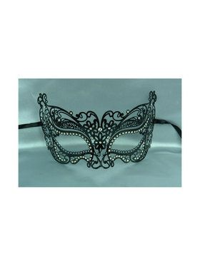 Womens Laser Cut Gold Metal Masquerade Mask