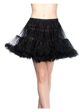 Womens Layered Tulle Petticoat - Black