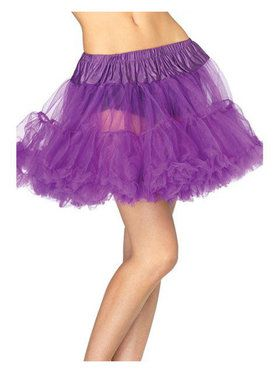 Women's Layered Tulle Petticoat - Purple