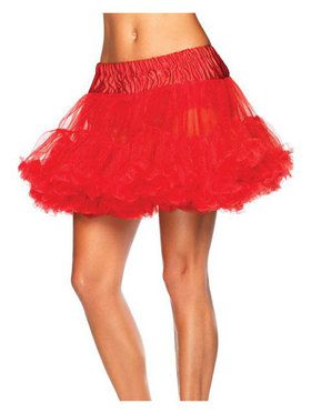 Women's Layered Tulle Petticoat - Red