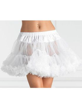 Womens Layered Tulle Petticoat - White