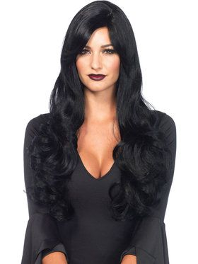 Women's Long Black Wavy Sexy Wig