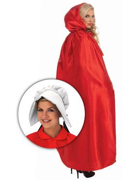 Red Maiden Cloak with Bonnet Kit