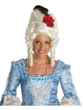 Marie Antoinnete Wig w/ Rose for Women