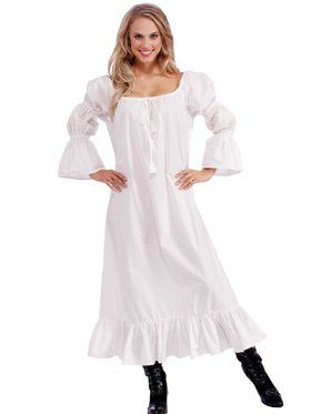 Womens Medieval Lady Chemise Adult Gown