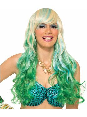Womens Mermaid Waves Sexy Wig