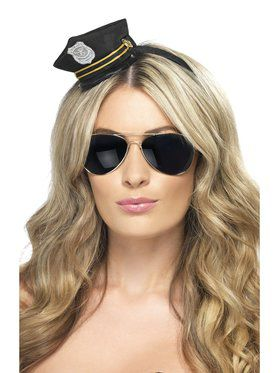 Women's Mini Cop Black Hat