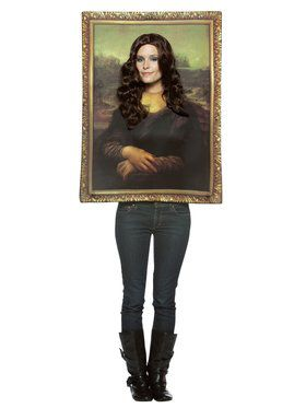 Womens Mona Lisa Painting Costume