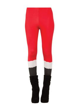 Womens Ms. Santa Leggings