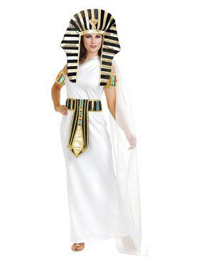 Women's Nefertiti Costume with Black Turban
