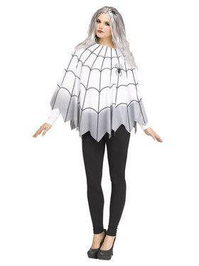 Womens Color Change Spiderweb Poncho
