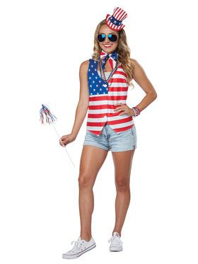 Patriotic Costume Kit For Women