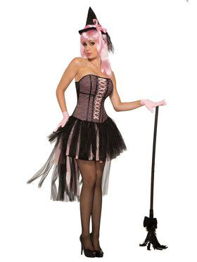 Womens Black Pin Up Style Witch Costume