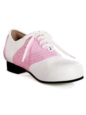 Women's Pink and White Saddle Shoe