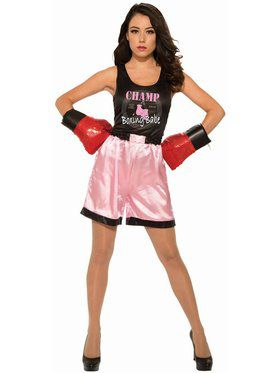 Women's Adult Pink Boxer Costume