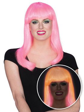 Pink Glow Babe Wig for Women