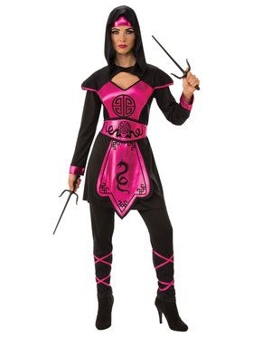 Pink Womens Ninja Warrior Costume