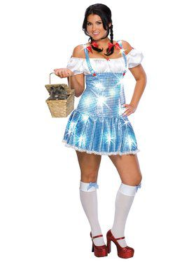 Womens Plus Glittering Dorothy Costume