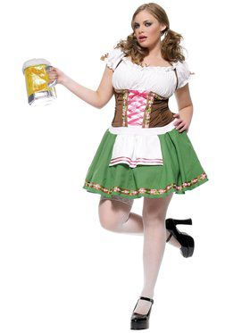 Womens Plus Gretchen Bavarian Maiden