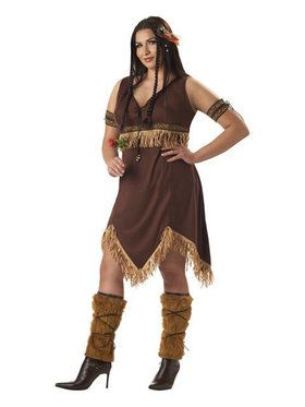 Women's Plus Indian Princess Adult Costume