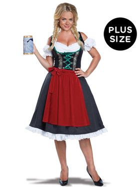 Womens Plus Size Oktoberfest Fraulein Costume
