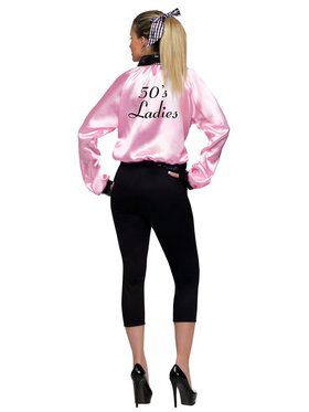Womens Plus Size Pink Satin Lady Jacket