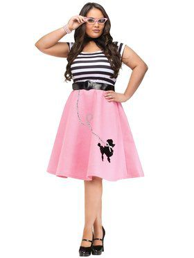 Womens Plus Size Poodle Skirt Dress