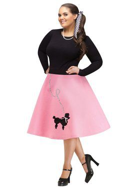 Women's Plus Size Poodle Skirt