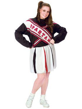 Womens Plus Size Spartan Cheerleader Costume