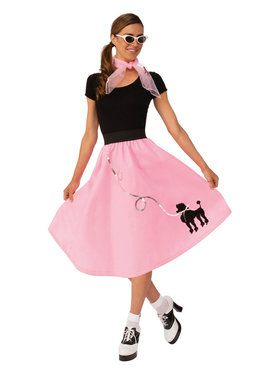 1950's Womens Poodle Skirt Costume