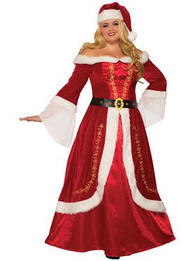 Womens Premium Mrs. Claus Costume