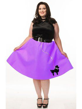 Plus Women's Poodle Dress Costume