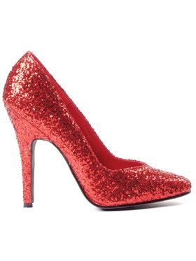 Red Glitter Pumps For Adults