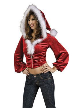 Red Santa Hoodie for Women